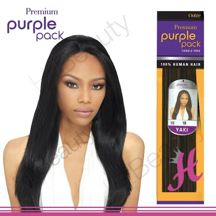 Outre Premium Purple Pack 100 Human Yaki Hair Extension