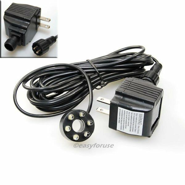 Underwater 6 led light ring for fountain fish pond water for Koi pond lights