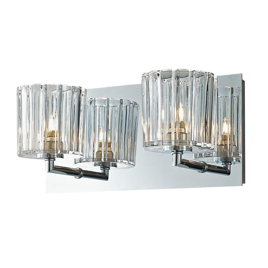Led Wall Sconce Light Fixtures : Crystal Bathroom Wall 2-Light Fixture Candle Sconces Vanity Lighting Glass Lamp eBay
