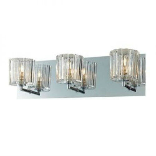 Crystal Bathroom Wall 3 Light Fixture Candle Sconces