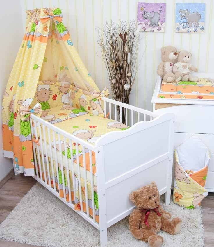 babybettw sche kinderbettw sche nestchen himmel bettw sche 100x135cm neu var 1 ebay. Black Bedroom Furniture Sets. Home Design Ideas