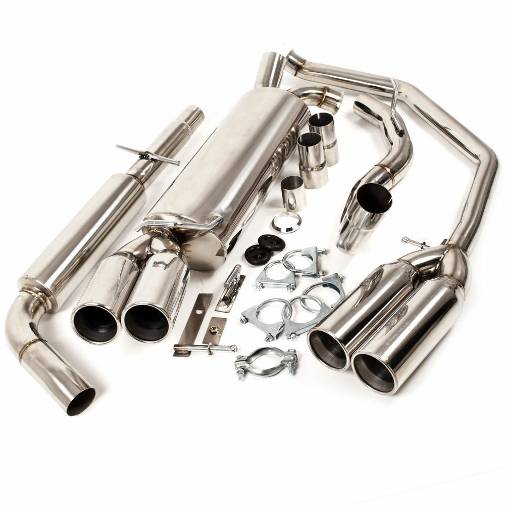 Exhaust System Parts : Stainless steel cat back exhaust system for volkswagen vw