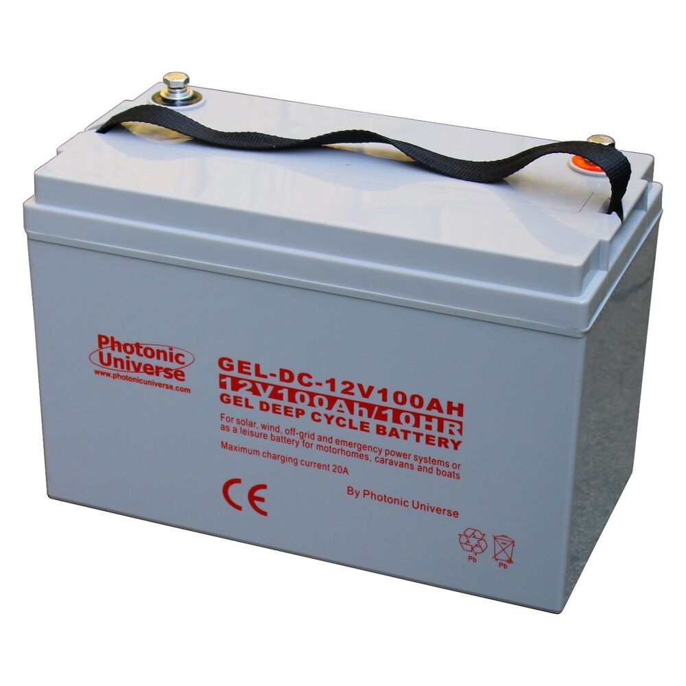100ah 12v gel deep cycle battery for motorhome caravan. Black Bedroom Furniture Sets. Home Design Ideas
