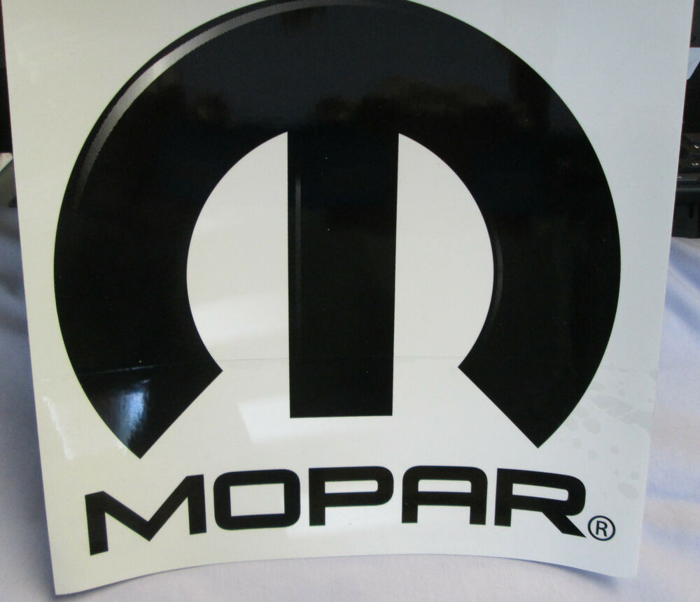 """Muscle Car Decals >> Lot of 3 MOPAR Decal Label Sticker Muscle Street Racing Performance 8""""x8"""" Black 