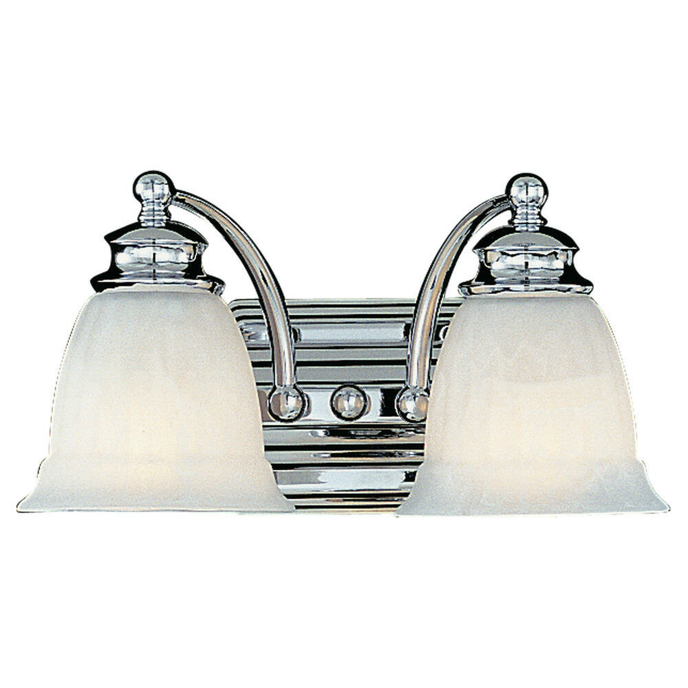 Murray feiss modern 2 light vanity sconce lighting fixture for Bathroom 2 light fixtures