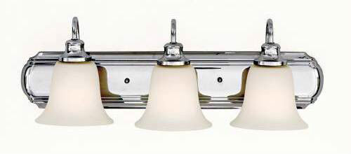 Chrome Murray Feiss 3 Light Vanity Lighting Fixture 100 Watt Bathroom Lights New Ebay