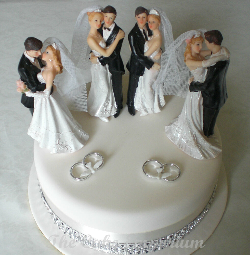 s wedding cake topper wedding cake topper resin amp groom standing ebay 20682