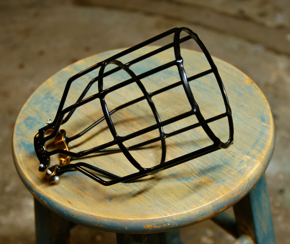 Black Bulb Guard, Clamp On Lamp Squirrel Cage, Vintage