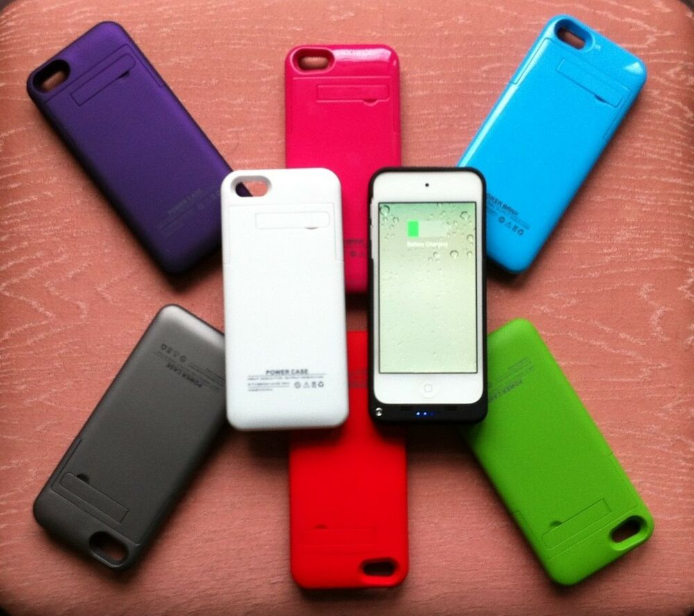 Battery For Ipod : Mah battery case cover portable power for ipod touch