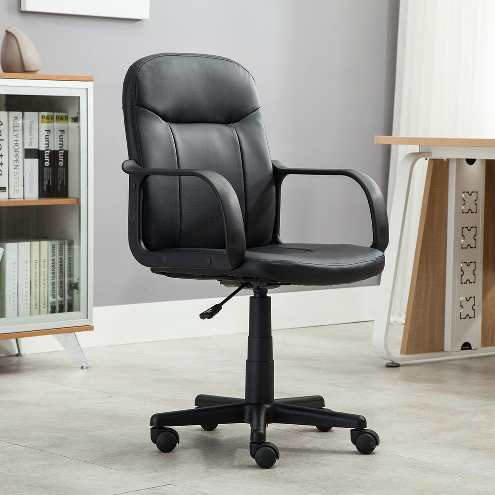 New modern office executive chair pu leather computer desk for Modern executive office chairs