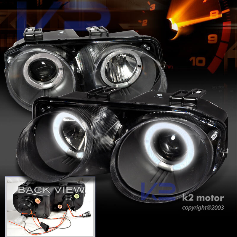 Acura Integra Headlights: 1998-2001 Acura Integra JDM Black Projector Headlights