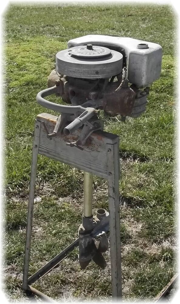 1937 johnson outboard boat motor 3 3 hp model 210 vintage for Outboard boat motor repair