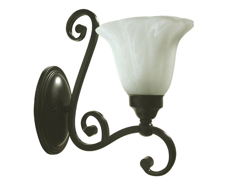 Brand New Indoor Interior Bath Wall Sconce 1 Light Oil Rubbed Bronze Brown Ebay