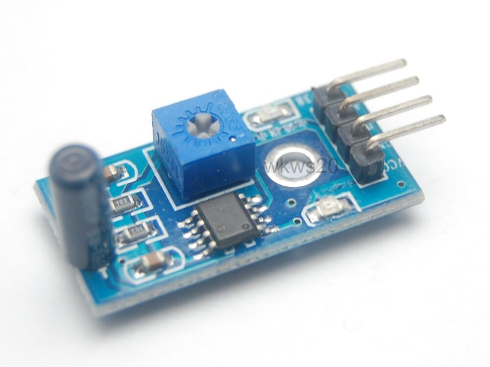 Arduino vibration sensor module theft prevention shake