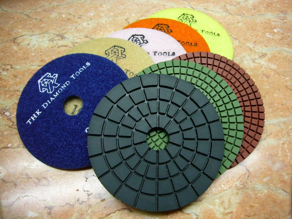 5 Quot Inch Thk Diamond Wet Polishing Pads Pad Wheel Marble