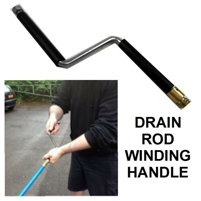 Rotating Handle For Bailey Drain Rods Or Other Makes
