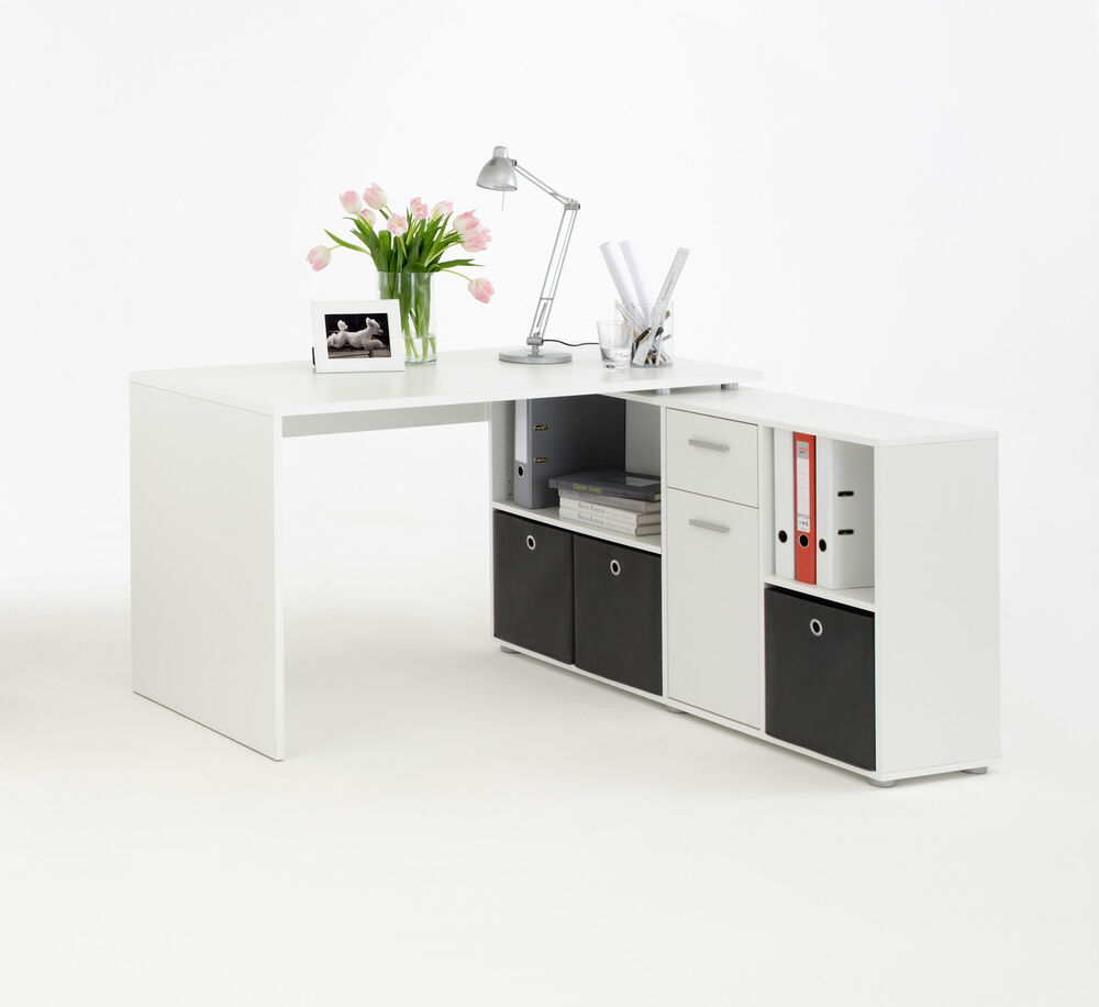 Office Furniture Computer Home Desk Study Storage White Ebay