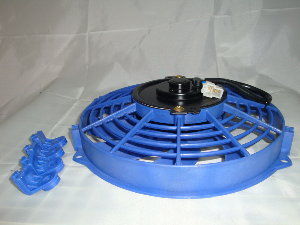 7 INCH 12V BLUE ELECTRIC COOLING FAN PERFORMANCE THERMO