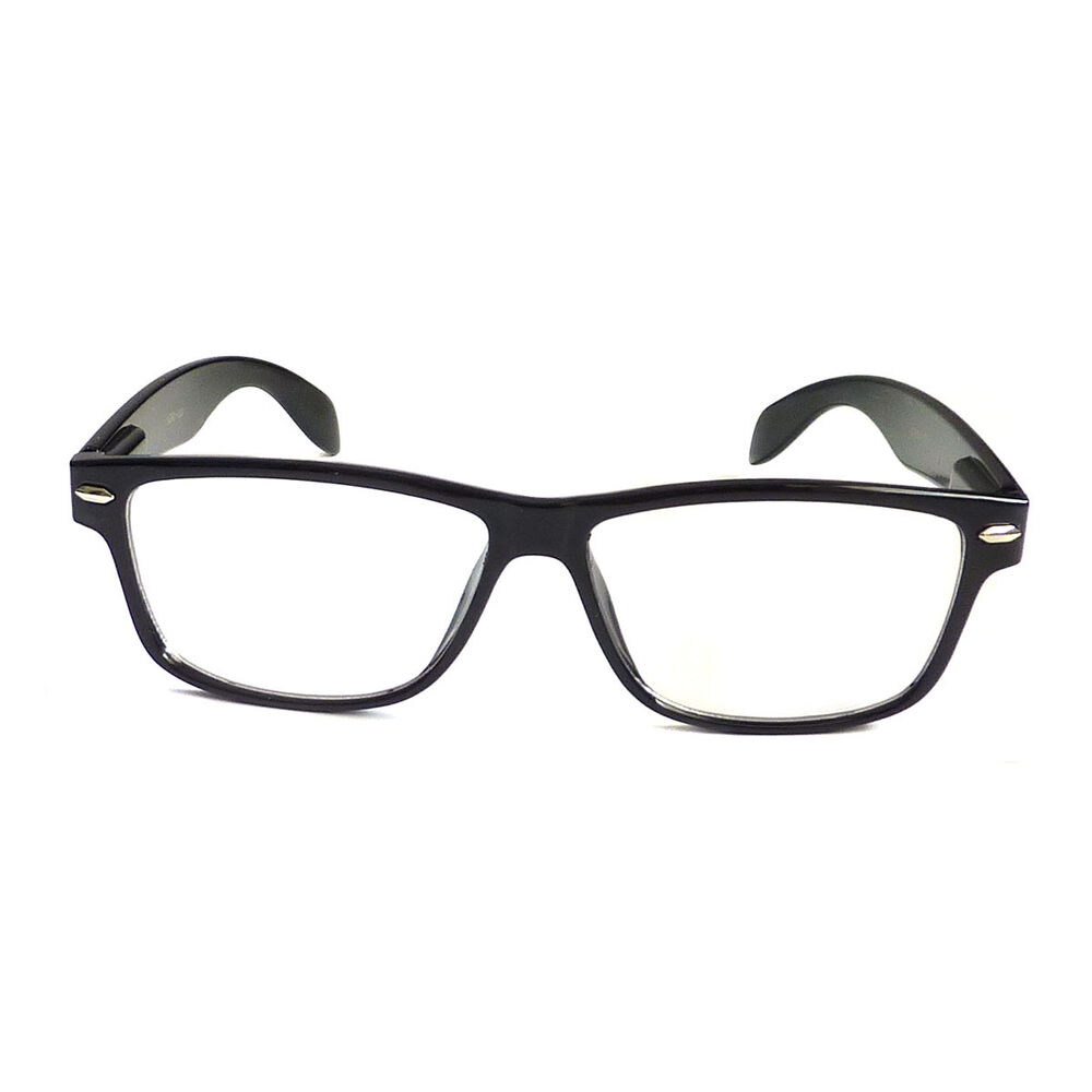 01432d332b3 Details about BLACK Frame Retro Geek Nerd Non Prescription Vintage Clear  Lens Eye Glasses NEW