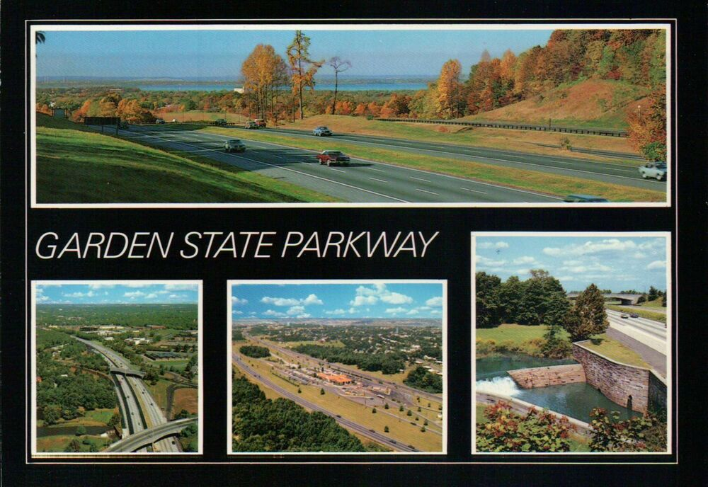 Garden state parkway new jersey 173 mile super highway from cape may postcard ebay for Watch garden state online free