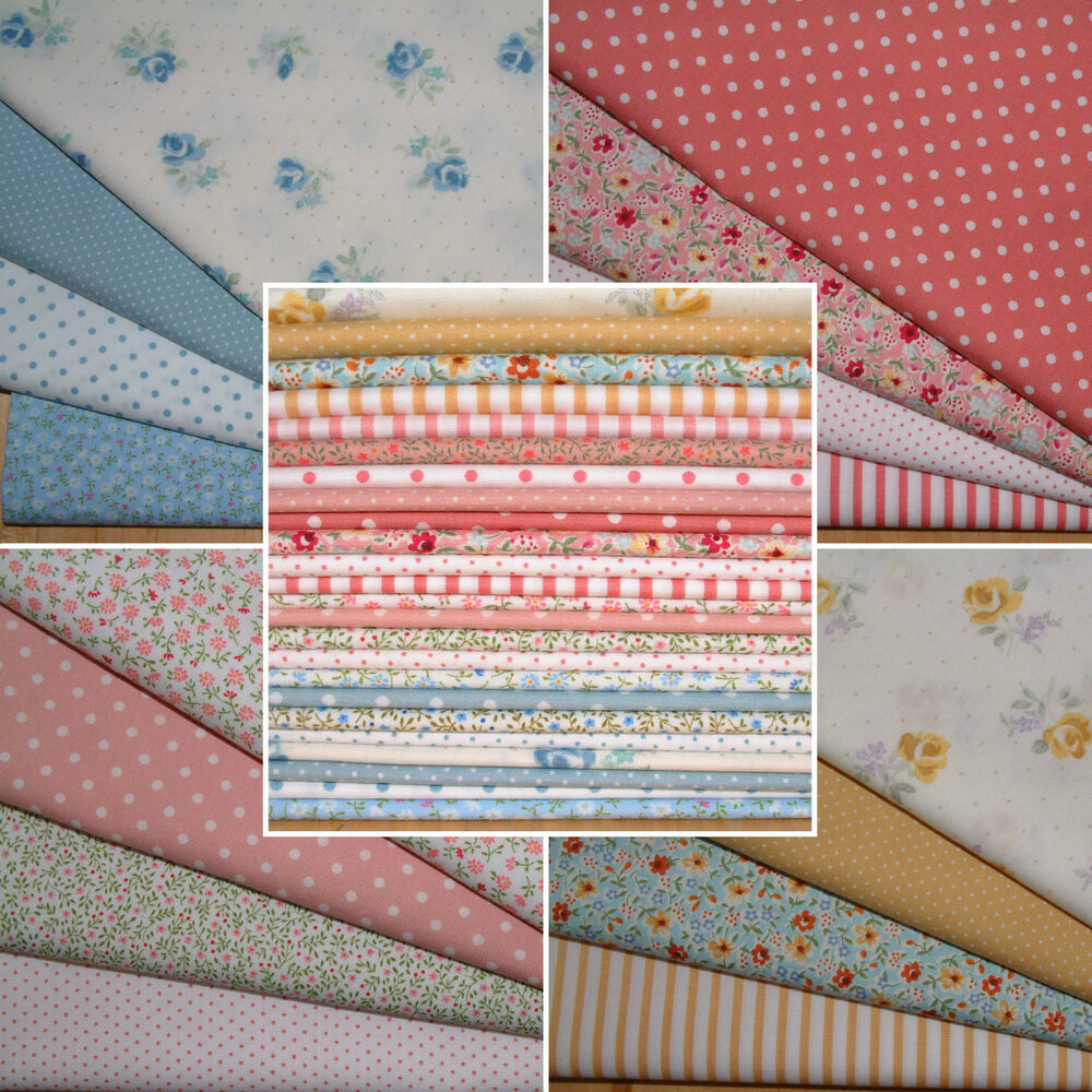 Fat quarter bundles 100 cotton japanese fabric quilting for Cotton quilting fabric