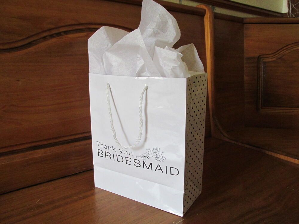 Wedding Gifts From Bridesmaids: 4 BRIDESMAID Paper Gift BAGS Wedding Gift Bridesmaids FREE