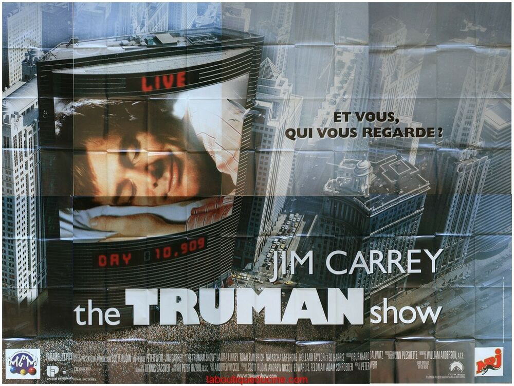 the truman show affiche cin233ma geante wide movie poster