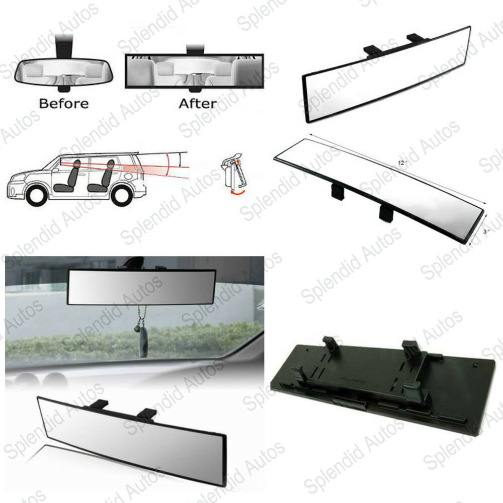 Jdm 300mm Wide Curve Interior Clip On Rear View Mirror
