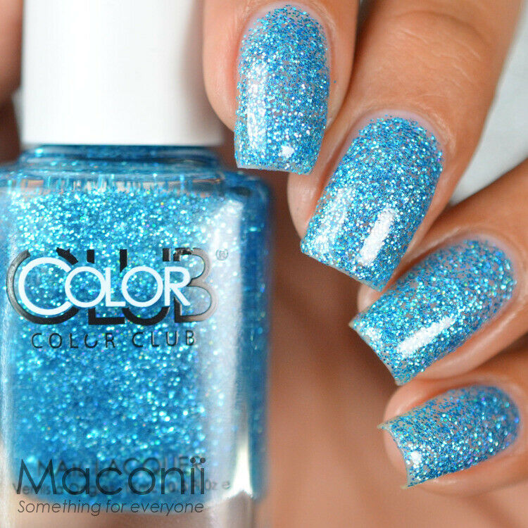 Who Sells Color Club Nail Polish: Blue Glitter Holographic Holo