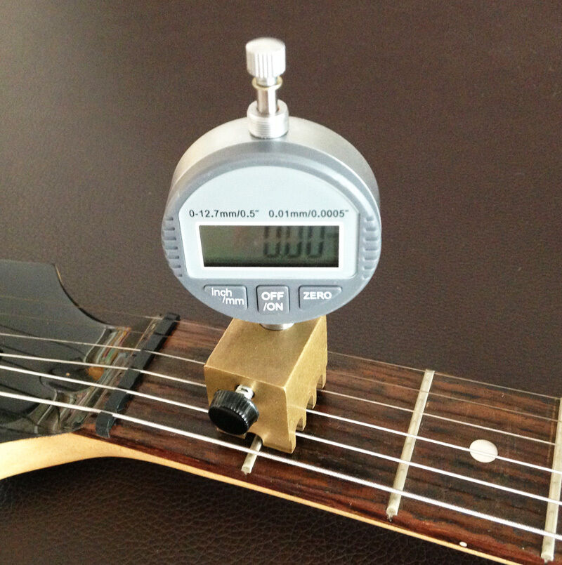 nut slotting gauge string height gauge for guitar setup digital indicator ebay. Black Bedroom Furniture Sets. Home Design Ideas