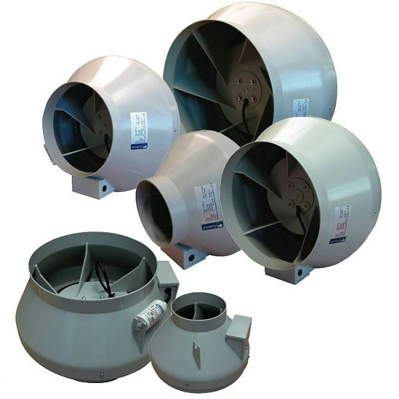 6 Duct Fan Extractor : System air rvk in line extractor fans ducting ventilation