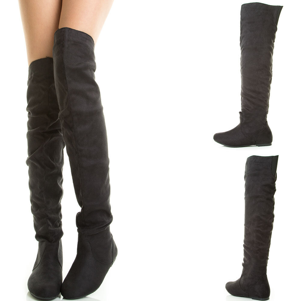black toe stretch slouchy the knee thigh high