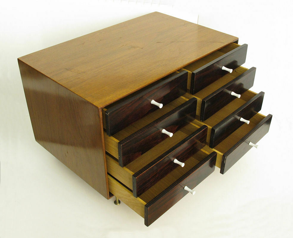 Vintage 1950s Herman Miller George Nelson Rosewood Jewelry Chest EAMES ERA