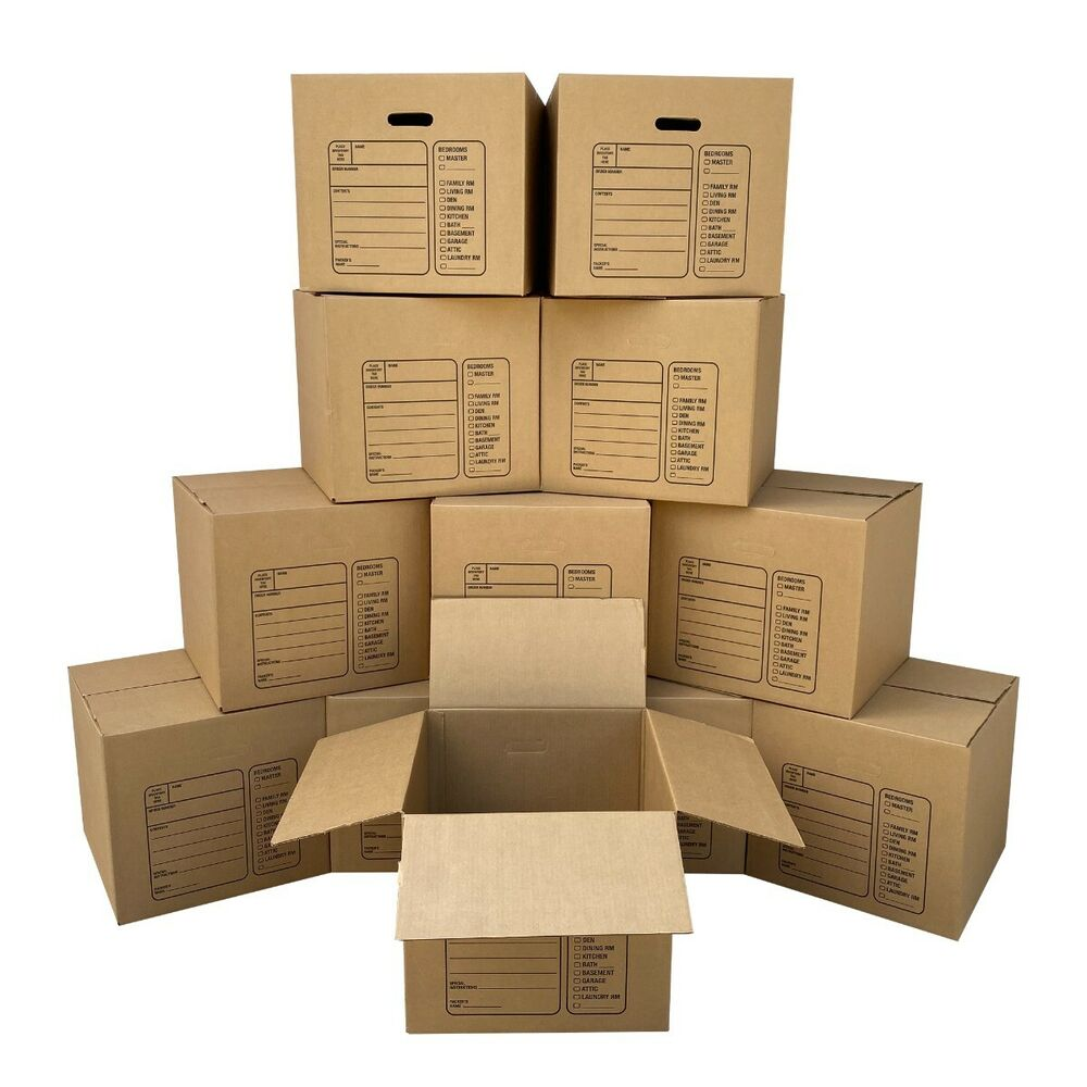 Moving Boxes - 12 Premium Medium Moving Boxes 18x18x16 ...