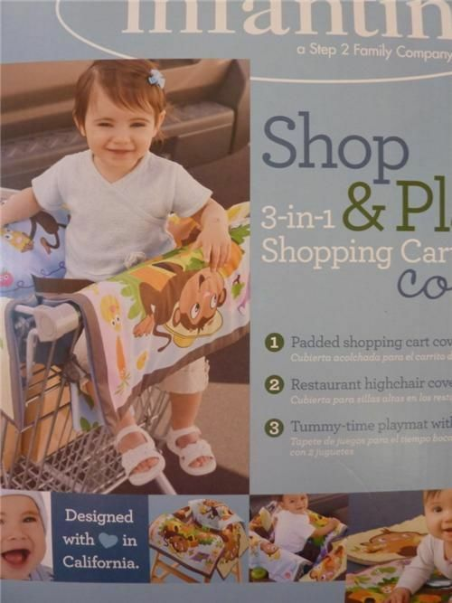 New Infantino Shop Amp Play 3 In 1 Shopping Cart Cover High
