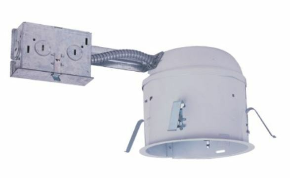 ic air tight shallow remodel recessed can light 120v replaces halo. Black Bedroom Furniture Sets. Home Design Ideas