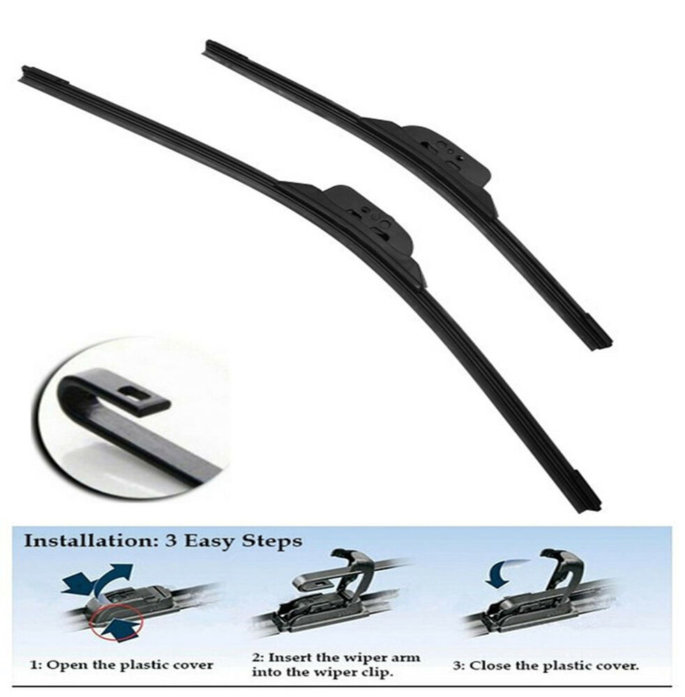 "CIVIC 2006-2011 FRAMELESS WINDSHIELD WIPER BLADES WIPERS 22""&26"" 2PCS ..."