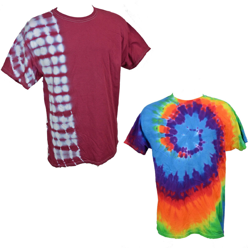 Lg mens tie dye t shirt you pick color classic t shirt for How do you dye a shirt