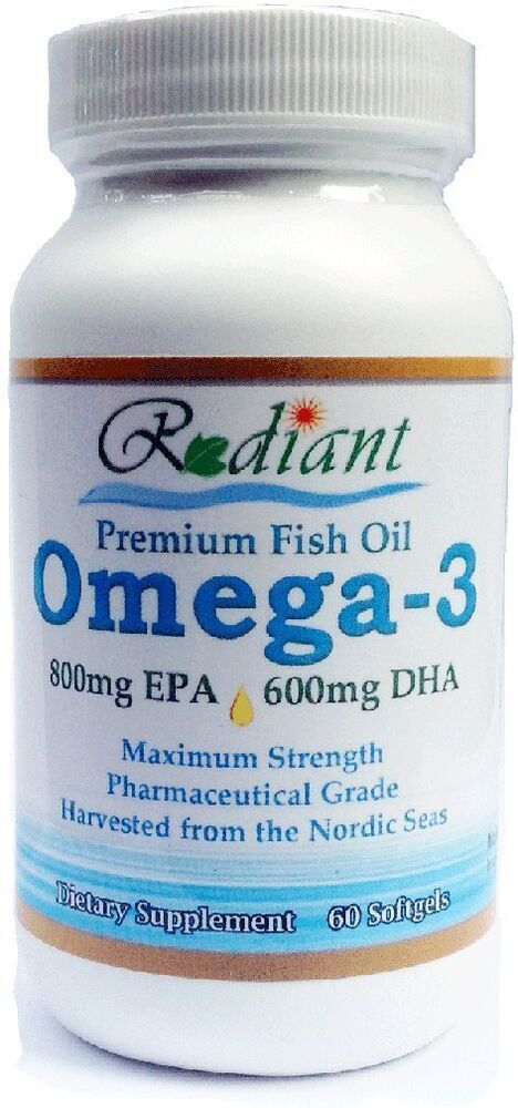 Max strength 1 500mg omega 3 fish oil 800mg epa and 600mg for Epa dha fish oil