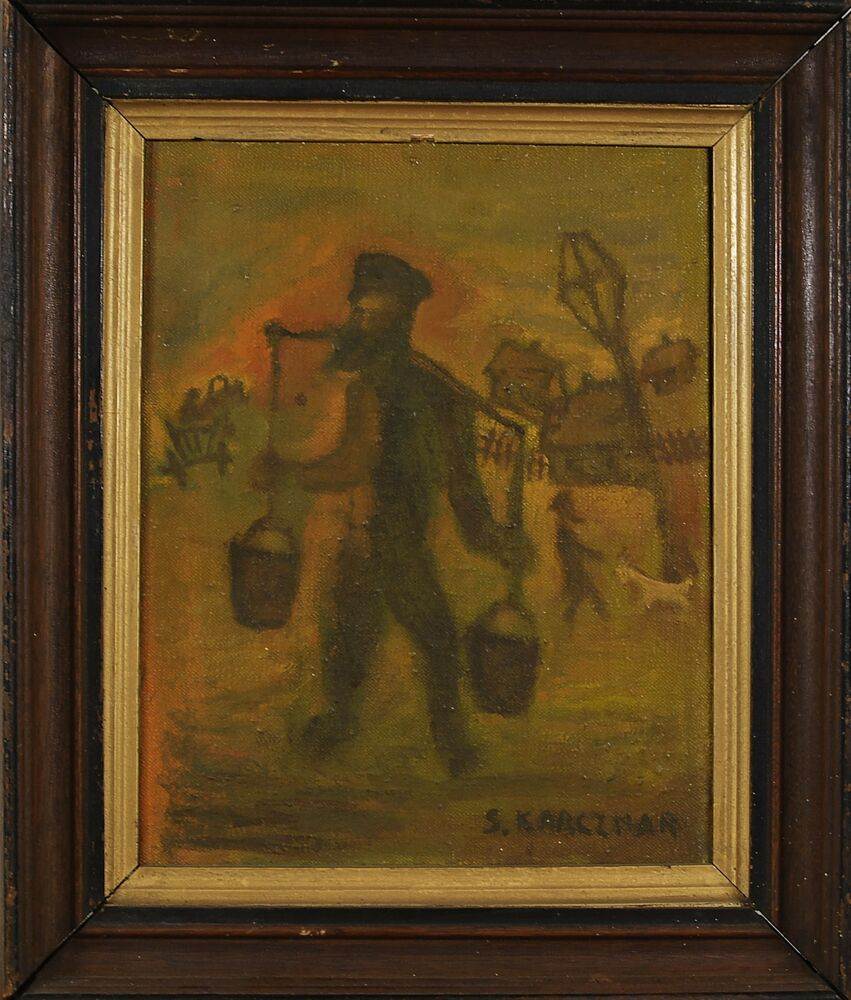 Simon natan karczmar polish israeli 1903 1982 judaica for Israeli artists oil paintings