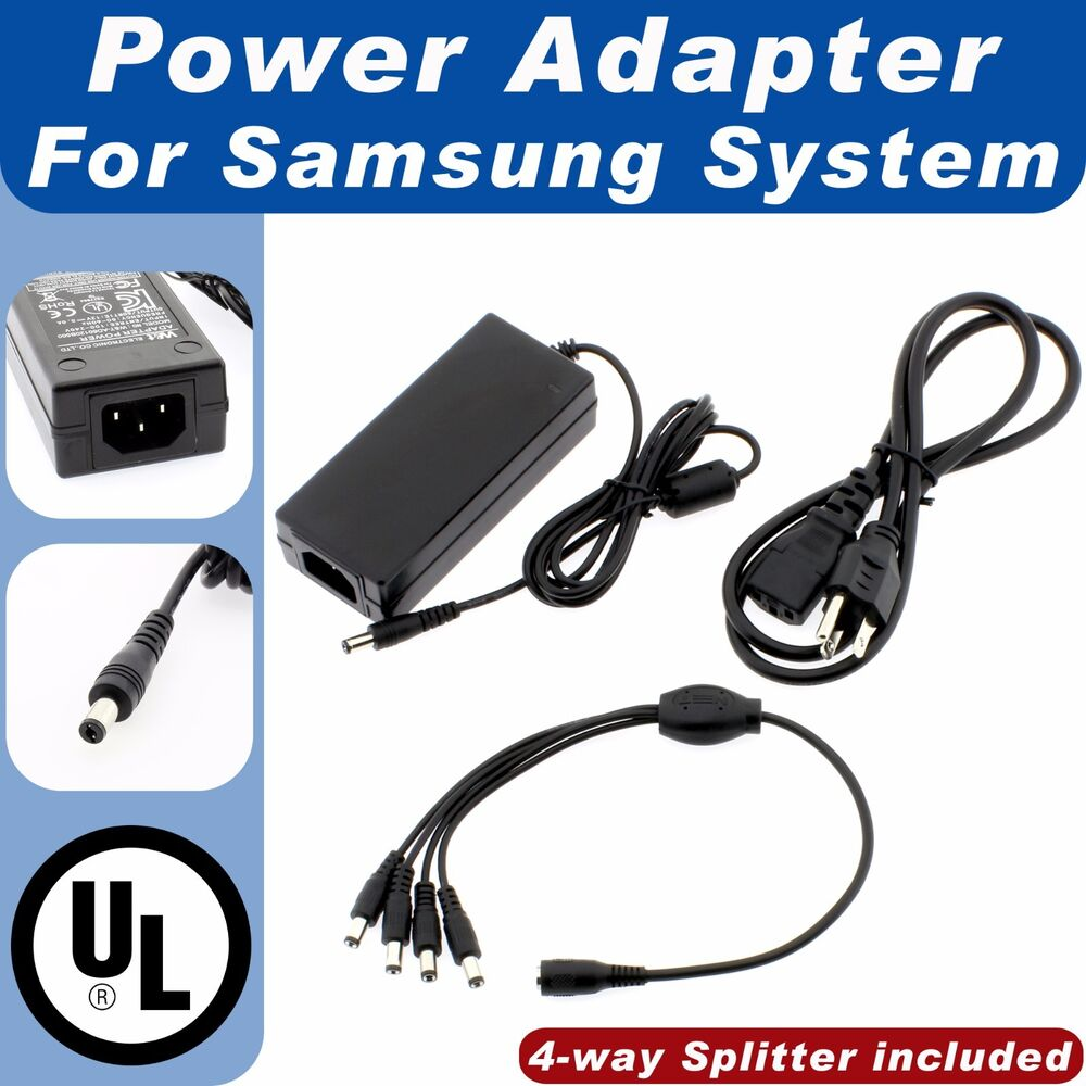 Dc 12v 3a Power Adapter 4 Split Power Cable For Cctv