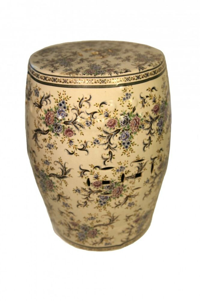 Oriental Furniture Porcelain Garden Stool With Glazed
