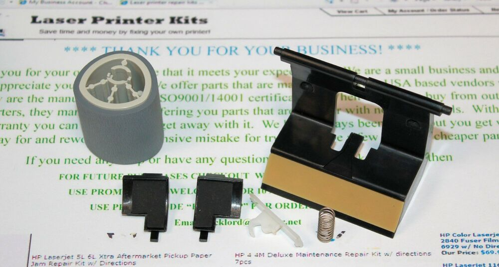 hp laserjet 5l 6l paper jam repair kit roller cd video directions usa seller ebay. Black Bedroom Furniture Sets. Home Design Ideas