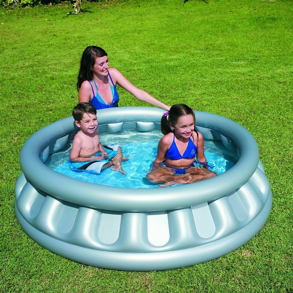 Bestway kids family outdoor garden spaceship swimming for Best children s paddling pool