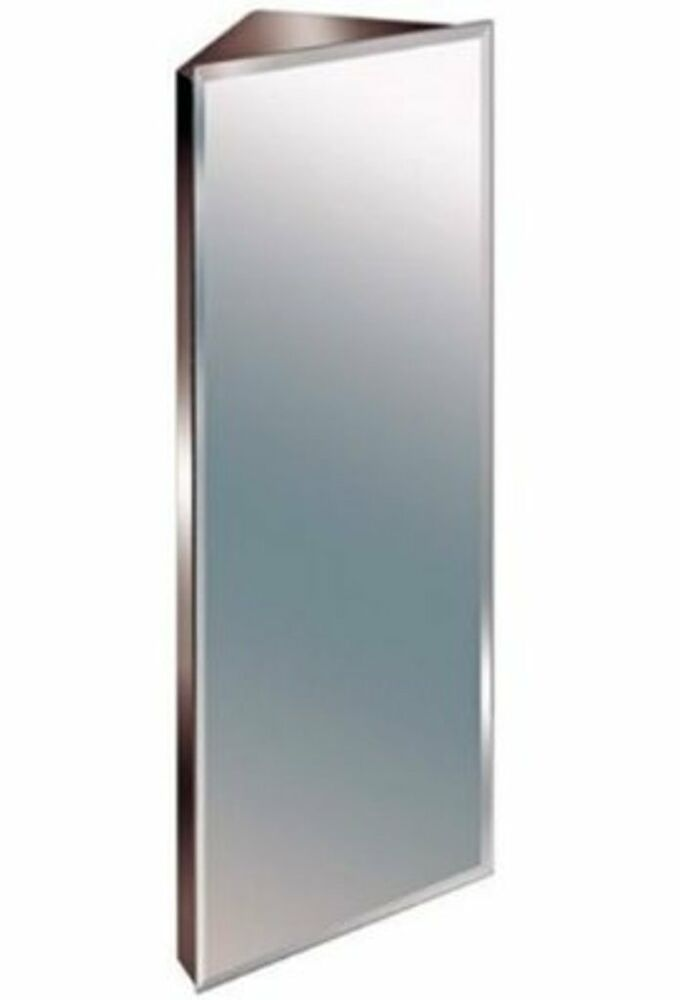 900mm stainless steel mirror bathroom corner cabinet bevelled edge