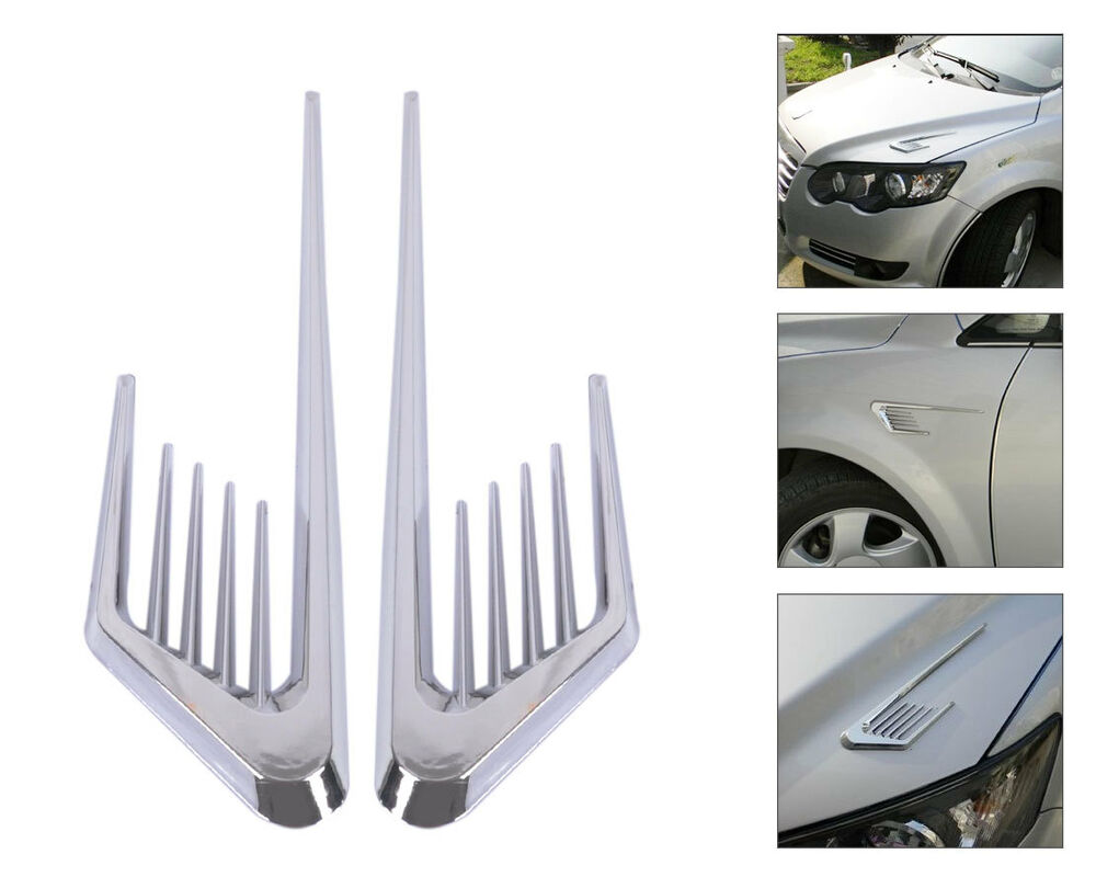 Cool Car Air Vent Decoration Sticker Fender Cover Hole Intake Duct Flow Grille Ebay