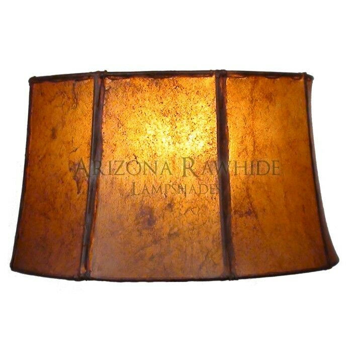 Southwestern Rawhide Leather Lamp Shade 8 5 Hx14 Wx12 5
