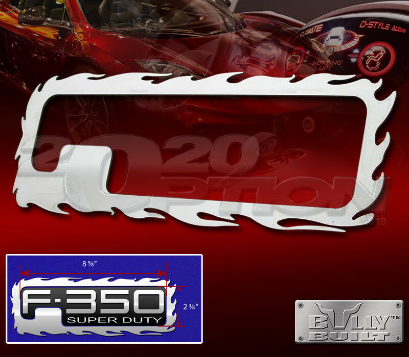 STAINLESS FLAME TAILGATE EMBLEM LOGO TRIM FOR 99-04 FORD F-250 F-350 SUPERDUTY | eBay