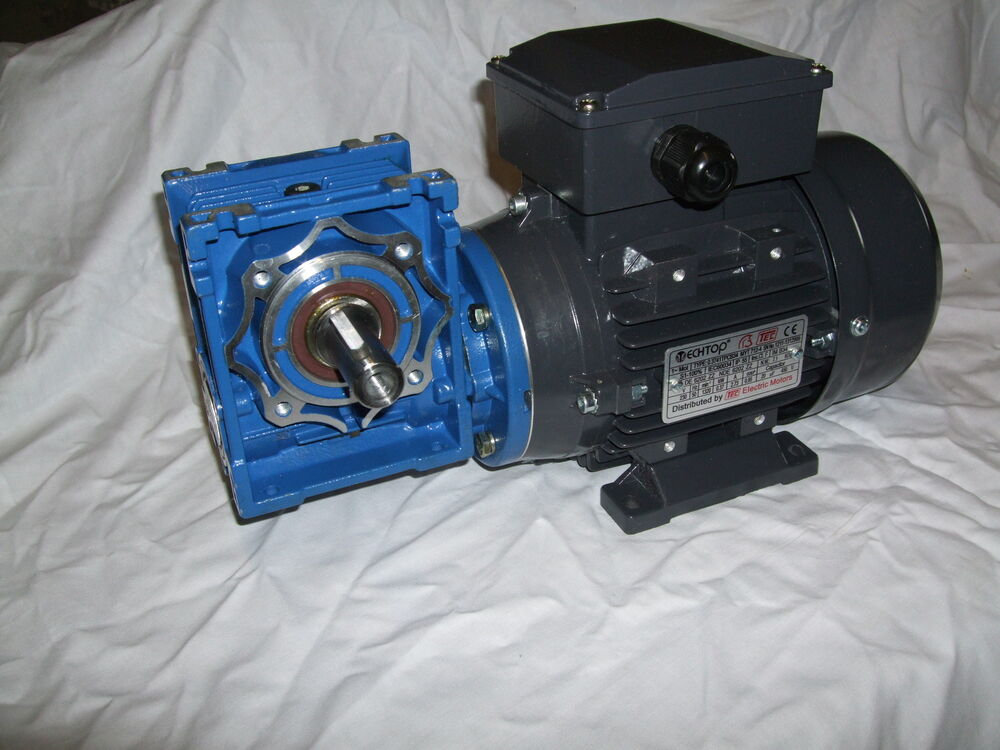 single phase 1 2hp electric motor and gearbox 140rpm