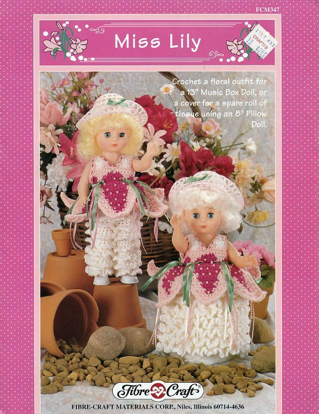 Miss lily fibre craft floral outfit for 13 or 8 pillow for Fibre craft 18 inch doll